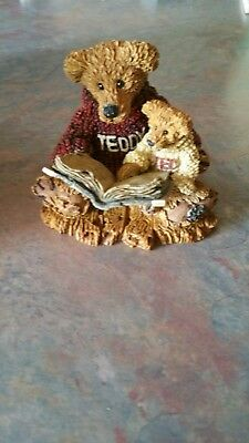 Boyds Bears & Friends The Bearstone Collection Ted & Teddy reading a book