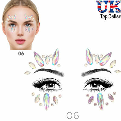 Face Eye Body Festival Sticker Christmas DIY Tattoo Crystal Glitter Jewels