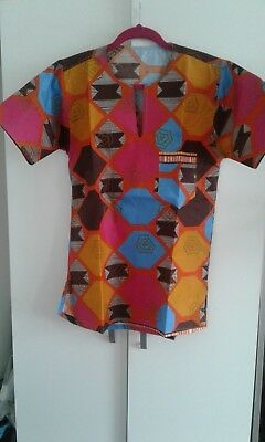 Men's Shirt African Print Ankara Brand New - Medium size