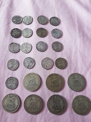 British silver coins job lot