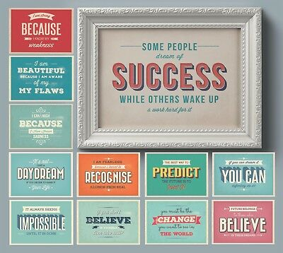 Positive Strong Woman Motivational Inspirational Typography Posters & Prints