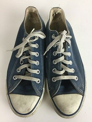 Vintage 80s 90s Mens 7 USA Converse Blue Low Top Womens 8.5 Sneakers Shoes  vtg c7ca57b70
