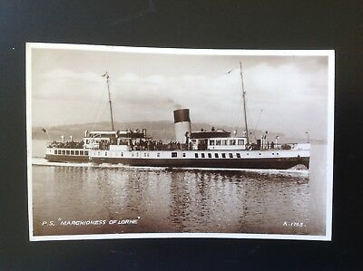 1939 Valentine's RP PC Of P.S. Marchioness Of Lorne Postmarked Blairmore Dunoon