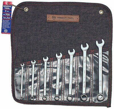 """WrightGrip 7 Piece Combination Wrench Set Made in USA 1/4"""" - 5/8"""" 12 Point"""
