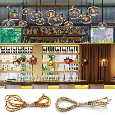 1M Cotton Cloth Covered Twisted Electrical Wire Retro Lamp Cord Decor
