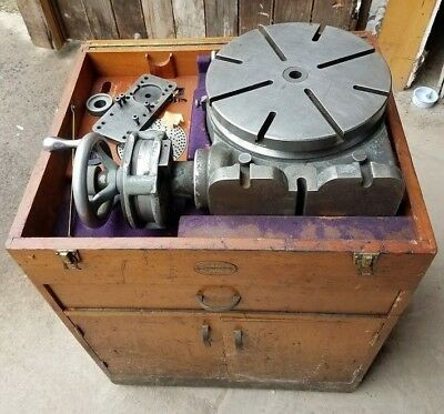 """Moore 11"""" Rotary Table and Moore Cabinet"""