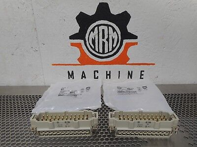 Harting HAN24 E STI-S Connector Inserts 24 Pin New (Lot of 2)