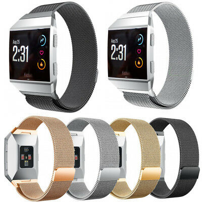 For Fitbit Ionic Replacement Metal Milanese Band Strap