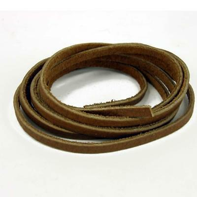 Real Leather Tan Brown Smooth Thong-ing. Genuine Leather 4mm Flat length 1m L8