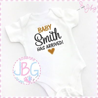 Bodysuit Personalised Baby Girls Vest Embroidered Design New arrival Clothes