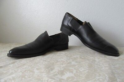 d23fa7c8a96 Sutor Mantellassi Italy Black Leather Loafers Slip-Ons Moccasins Shoes 11.5