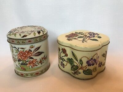 Vintage Daher Tins, The Tin Box Company, Made In England, Lot of 2