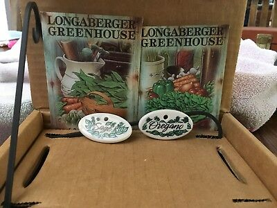Longaberger Herb Maker And Seed Packet Gift Set