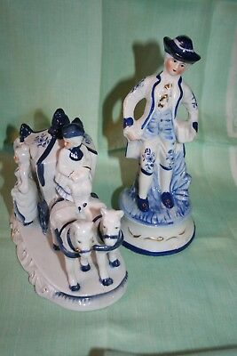 Porcelain figurine set of two