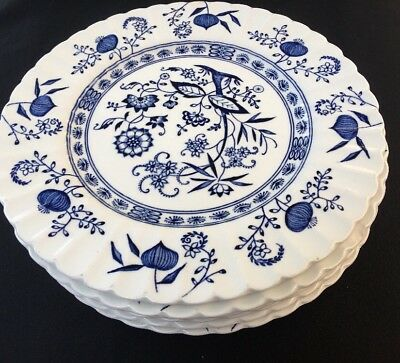 6 x Classic Blue Nordic Salad Plates by J & G Meakin