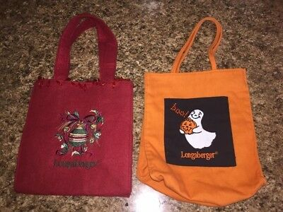 Longaberger Halloween & Christmas Bags, Holiday Decoration Bags