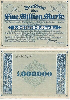 Mindelheim 1 Million Mark von 1923