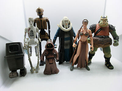 Star Wars Potf2 Jabbas Palace  Action Figuren Sammlung Lot Hasbro 3.75 Leia Jawa