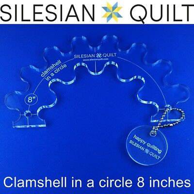 Template for quilting - Clamshell in a circle 8 inches