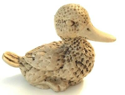 resin bird, duck figure, art, made in Mexico