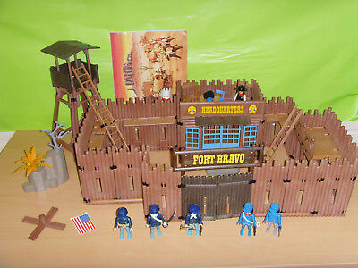 Playmobil Western Fort Bravo 3777 in OVP Anleitung