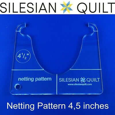 Template for quilting - Netting Pattern