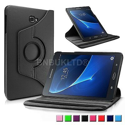 360 Rotating Premium Leather Case Stand Cover For Various Samsung Tablets