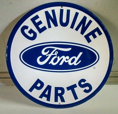 FORD Genuine Parts with oval FORD Logo Round Metal Steel Sign