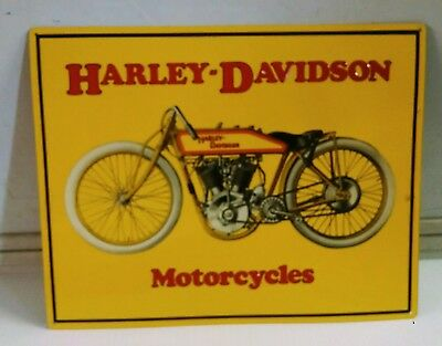 HARLEY DAVIDSON Motorcycle early 1900s Model vintage metal Sign embossed