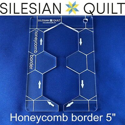 Template for quilting - Honeycomb Border 5 inches