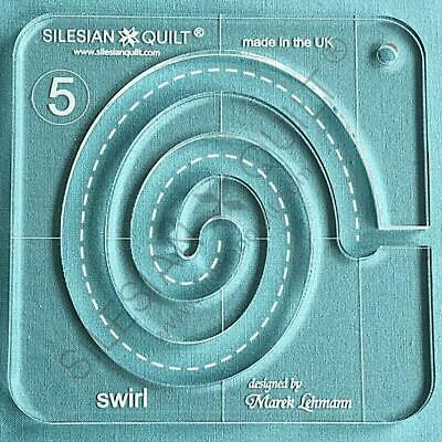 Template for quilting - Swirl series 5 (template fits to FMQ Grip5)