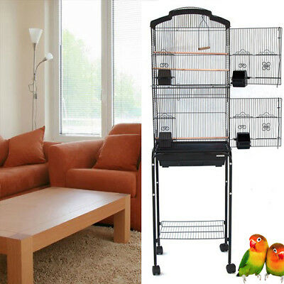 """64"""" New Large Canary Parakeet Cockatiel LoveBird Finch Budgie Bird Cage Stand290"""