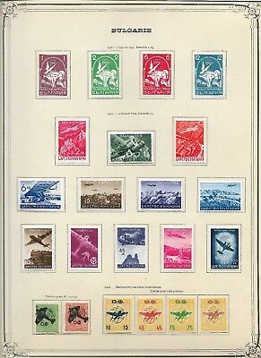 BULGARIA. 1930s-1940s Airmails. 4 Sets. Mounted Mint on page.