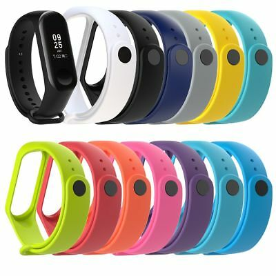 New Adjustable Silicone Wrist Strap Armband Bracelet for Xiaomi Miband MI Band 3