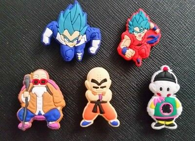 21d59fc1af 5 x Dragonball Shoe Charms Croc Jibbitz Crocs Accessories Wristband Dragon  Ball