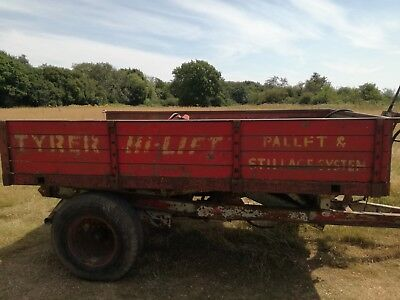 tipper trailer hi lift farm tractor trailer