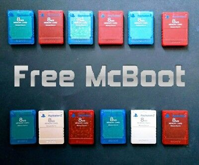 PlayStation 2 PS2 Sony Memory Cards (farbig) mit FMCB Free McBoot 1.964 Softmod