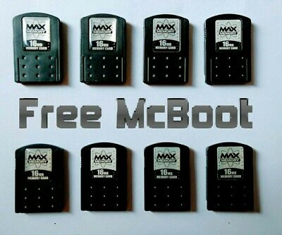 PlayStation 2 PS2 16MB Max Memory Cards mit FMCB - Free McBoot 1.964 Softmod