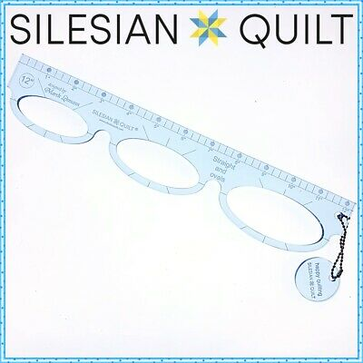 Template for quilting - Straight and ovals Ruler 12 inches