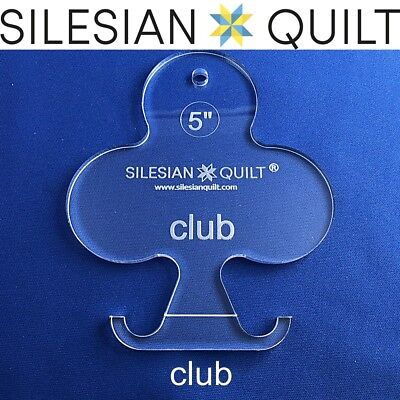 Template for quilting - Deck of cards - Club 5 inches