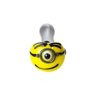 "4.5"" Carl Minion Spoon TOBACCO Pipe (AMERICAN MADE Glass Hand Pipes)"