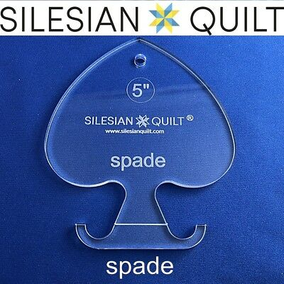 Template for quilting - Deck of cards - Spade 5 inches
