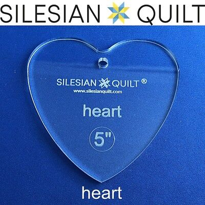 Template for quilting - Deck of cards - Heart 5 inches