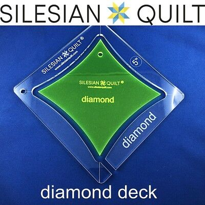 Template for quilting - Deck of cards - Diamond 5 inches set