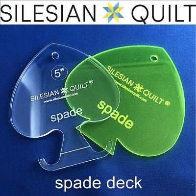 Template for quilting - Deck of cards - Spade 5 inches set