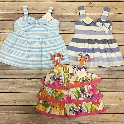 Lot Of New Janie & Jack Sz 2T Tank Tops Blue and Floral NWT