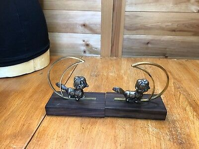 Vintage Art Deco Dogs Bookends