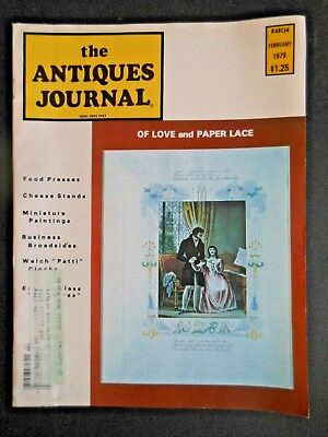 Antiques Journal 1979 Cheese Stands Paper Lace Cider Press Miniature Paintings