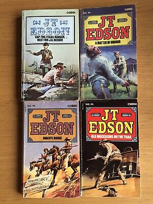 J T Edson Western Cowboy Books Lot Of 4 See Photos For Detail All 1st Editions