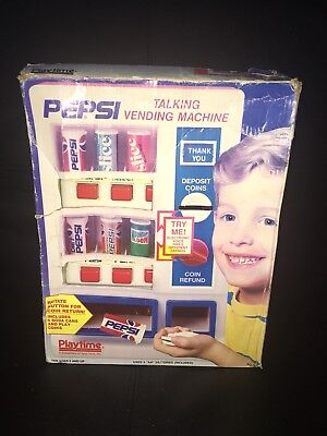 PEPSI COLA 1991 TALKING VENDING MACHINE TOY W/ BOX by PLAYTIME PRODUCTS WORKS!